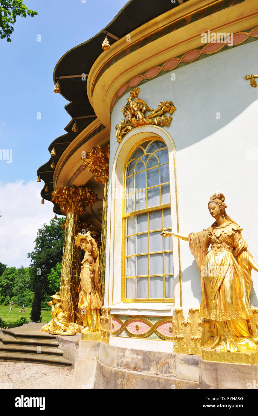 The Chinese house in Sanssouci park, Potsdam, Berlin - Stock Image