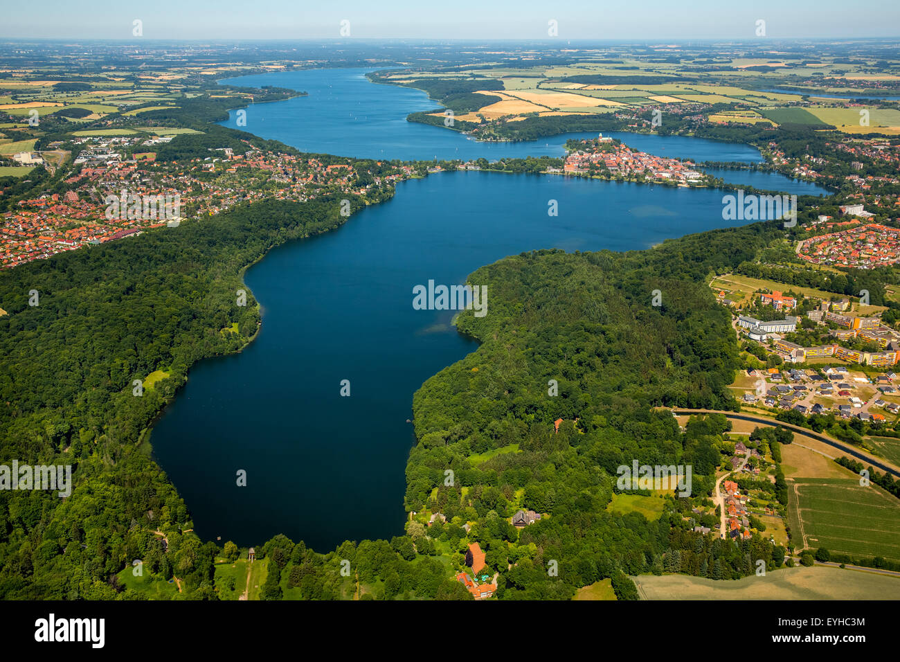 Ratzeburger See lake, Domsee lake, Küchensee lake, Bay of