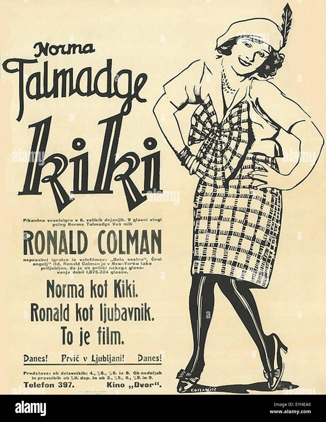 Kiki - 1926 - Norma Talmadge - Movie Poster - Stock Image
