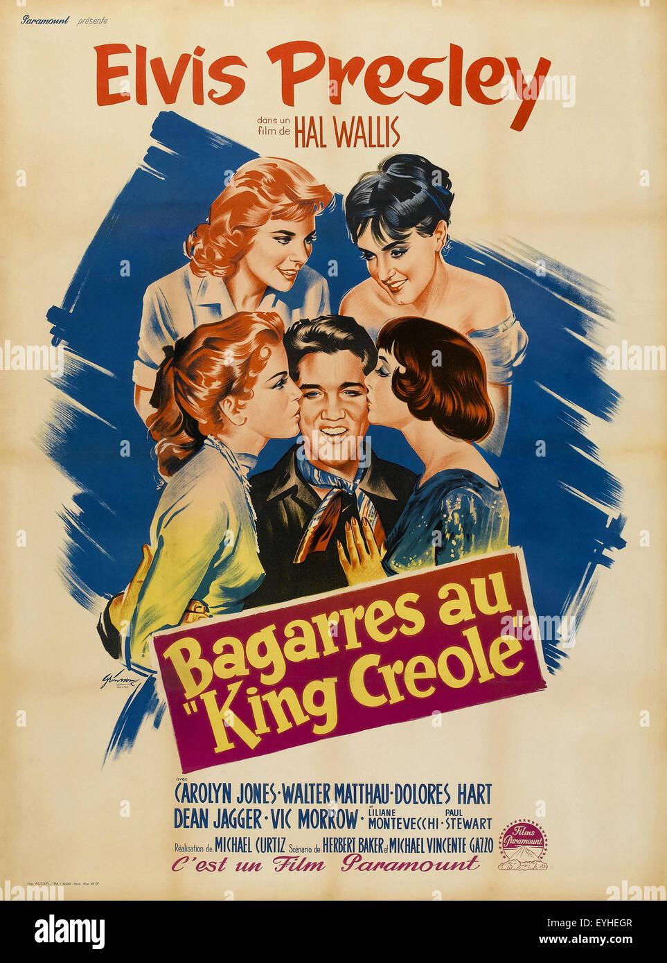 Elvis Presley King Creole Vintage Movie Poster