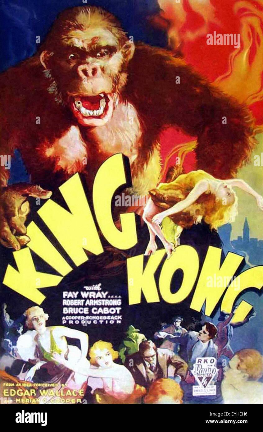 King Kong 1933 Movie Poster Stock Photo 85821826 Alamy