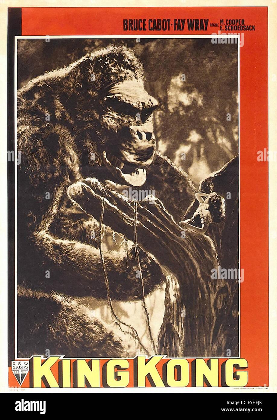 King Kong 1933 Movie Poster Stock Photo 85821867 Alamy