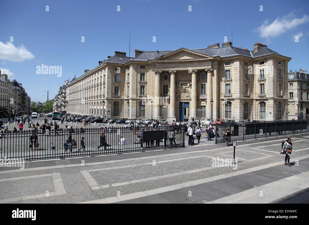 Buildings of the universities Panthéon-Sorbonne and Panthéon-Assas Place du Panthéon Paris - Stock Image