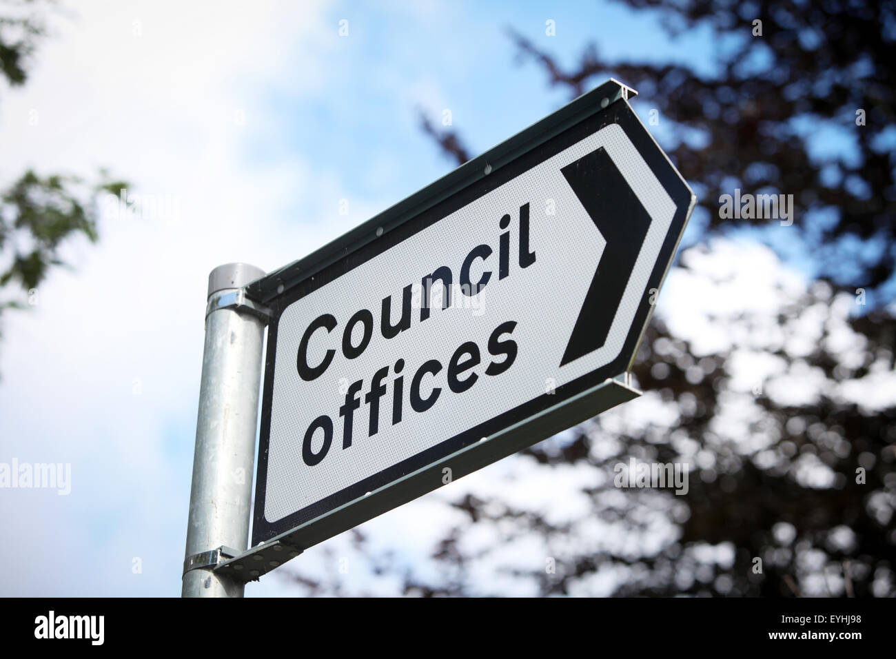 Council Offices street sign - Stock Image