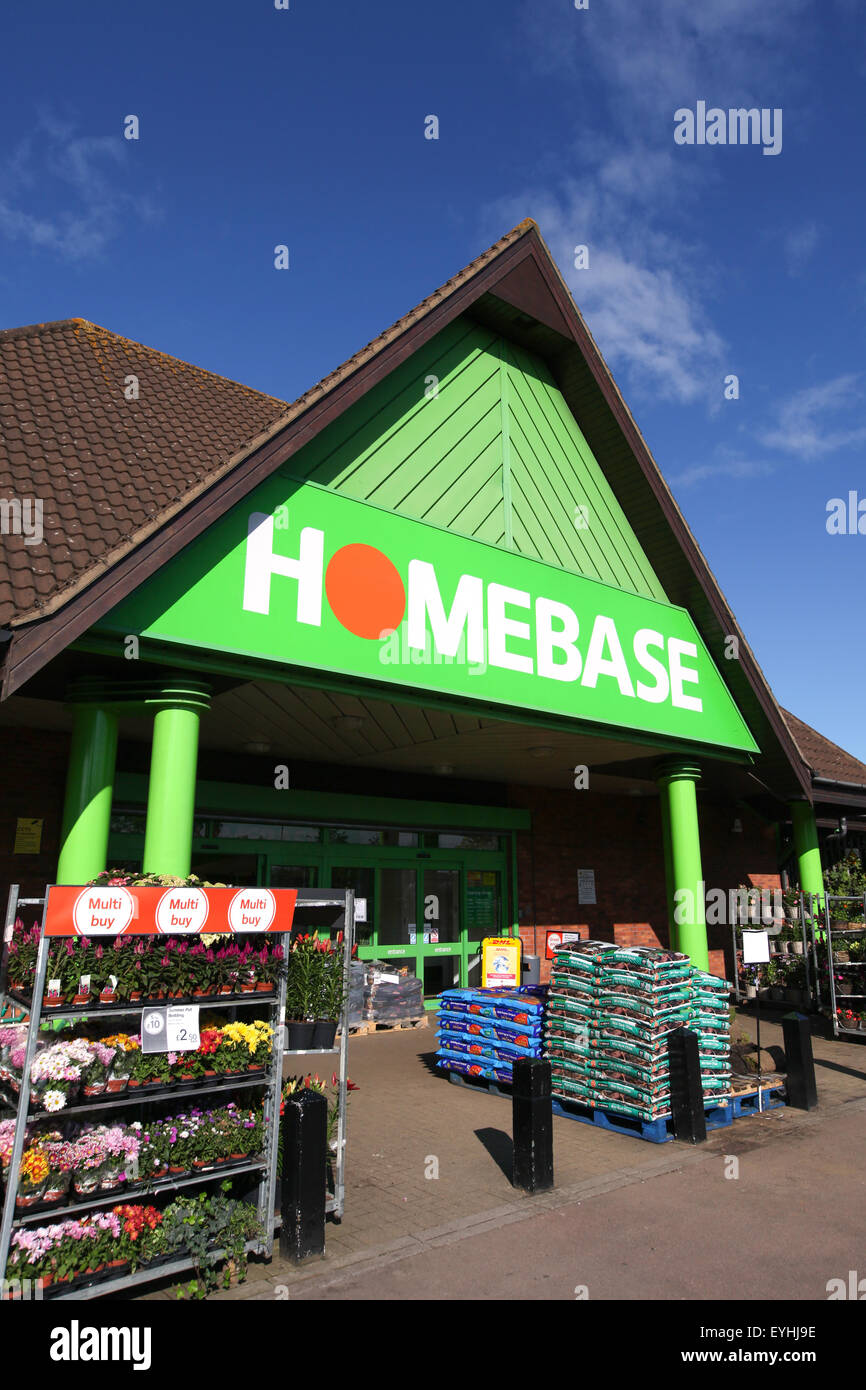 Exterior of a Homebase store in Southampton - Stock Image