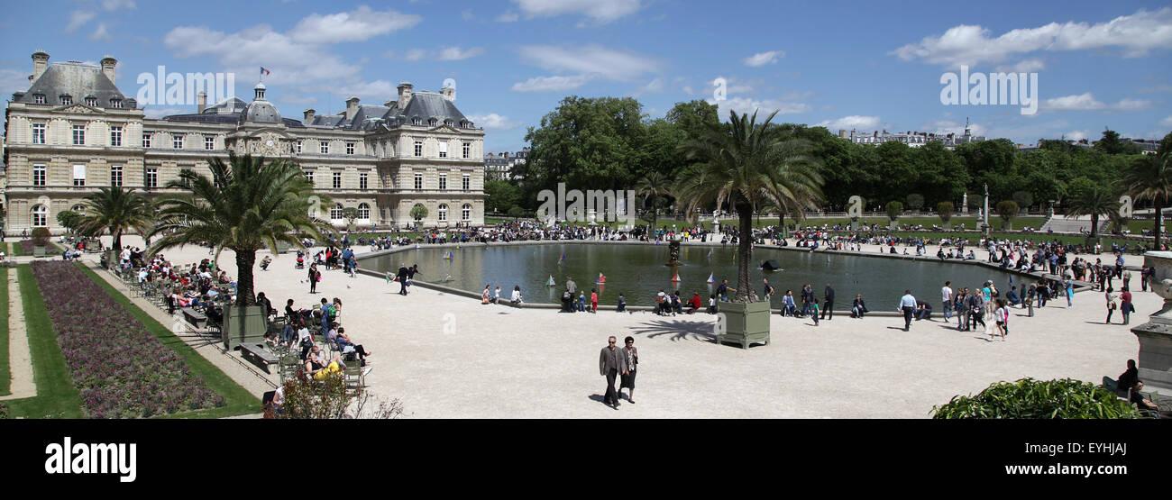 Luxembourg Garden Jardin du Luxembourg in Paris France - Stock Image