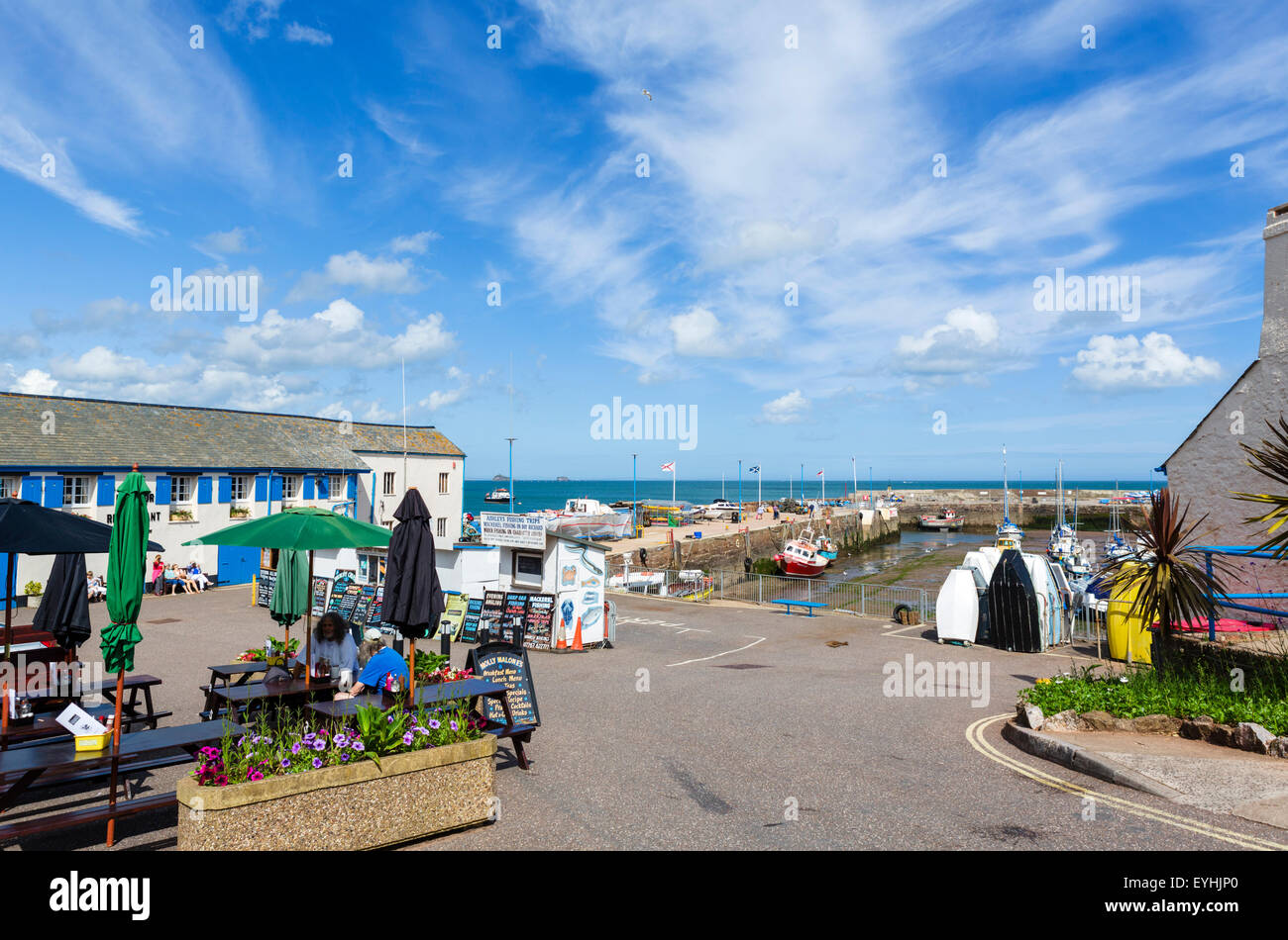 The harbour in Paignton, Torbay, Devon, England, UK - Stock Image