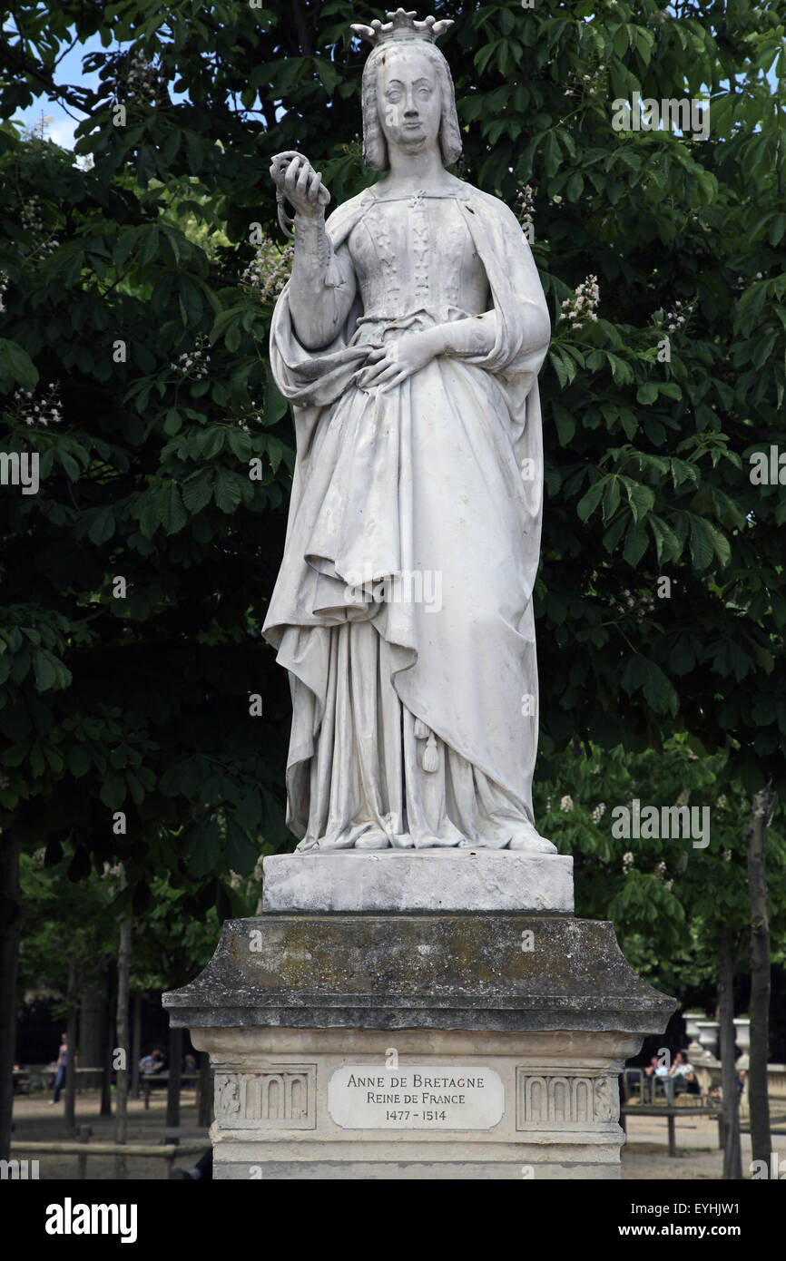 Anne of Brittany 1477 – 1514 French queen.in Luxembourg Garden Jardin du Luxembourg in Paris France - Stock Image