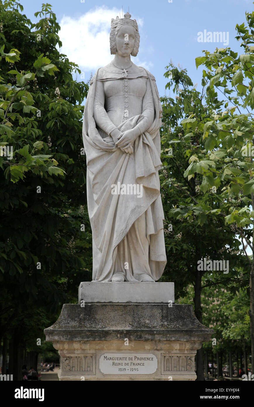 Margaret of Provence 1221 – 1295  Queen of France.in Luxembourg Garden Jardin du Luxembourg in Paris France - Stock Image