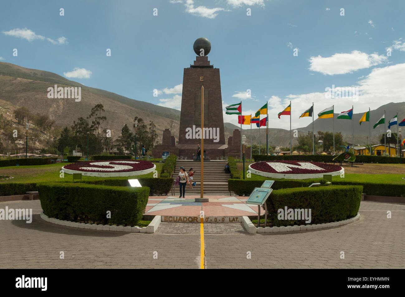 The Equator Line, near Quito, Ecuador - Stock Image