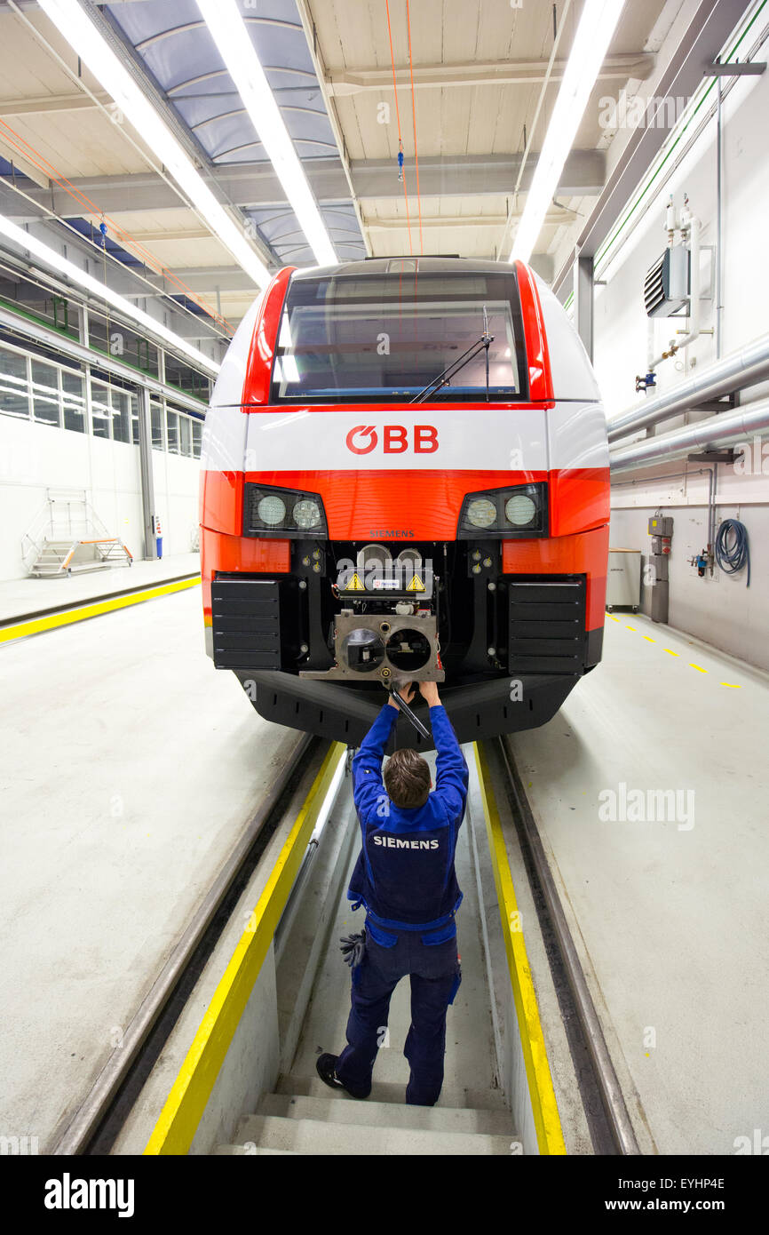 Krefeld, Germany, Desiro CityJet the Siemens rail car plant Stock Photo