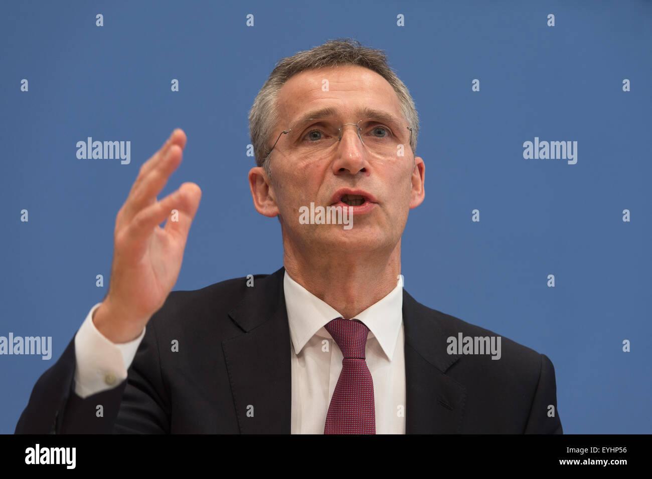 Berlin, Germany, Jens Stoltenberg, Ap, NATO Secretary General Stock Photo