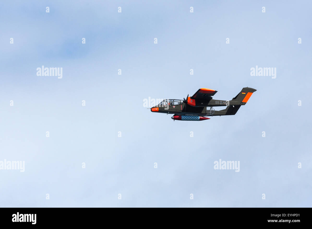 The North American Rockwell OV-10 Bronco is a turboprop light attack and observation aircraft. - Stock Image