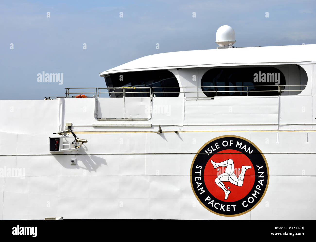 The Isle of Man Steam Packet Company fast cat ferry. The City of Liverpool , Britain. Stock Photo