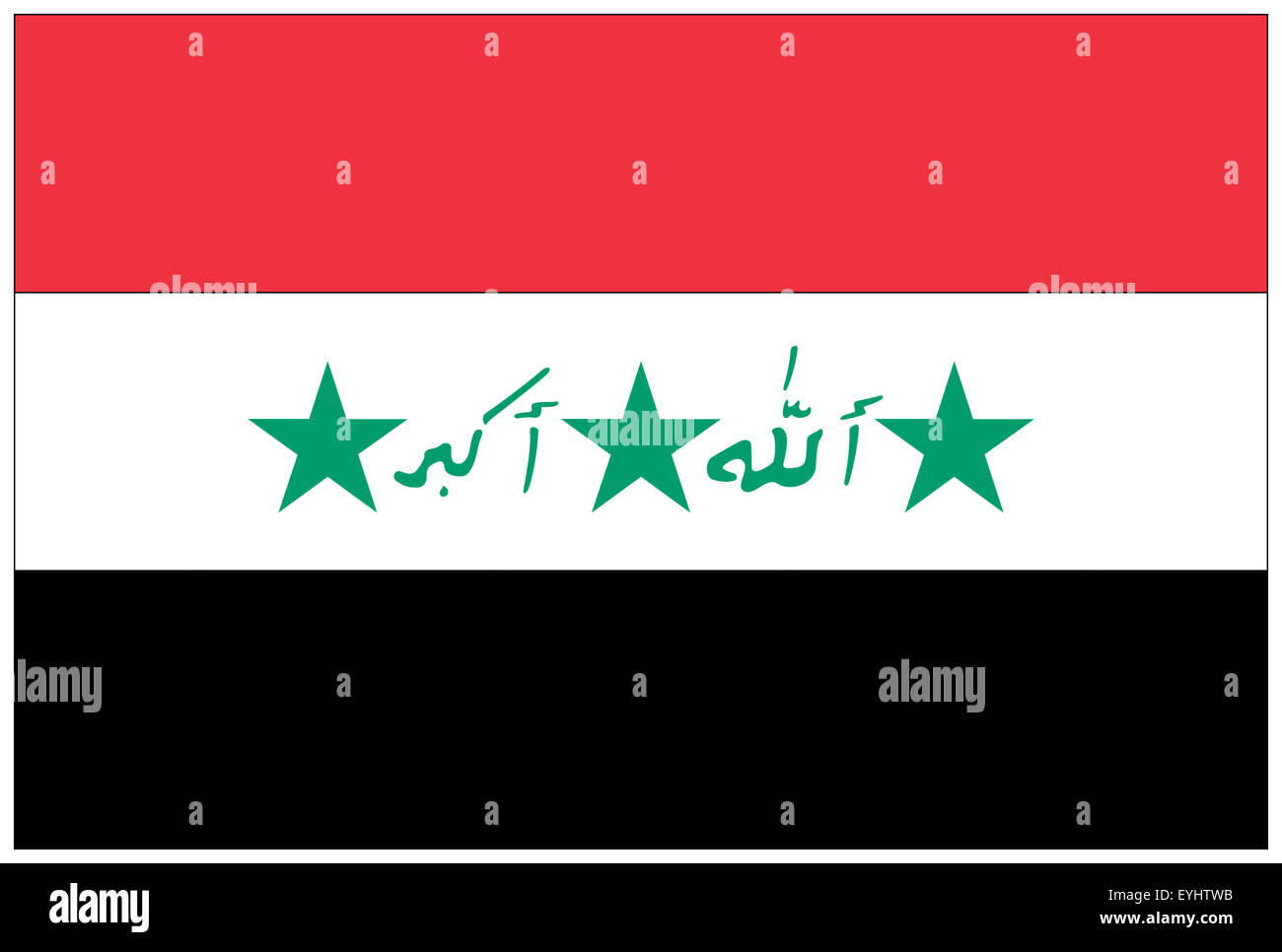 Fahne: Irak/ flag: Iraq. - Stock Image