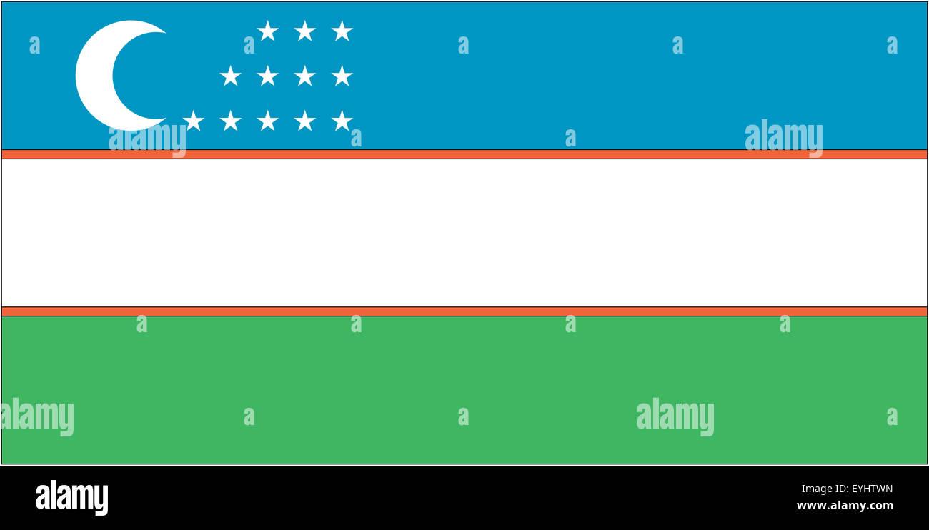 Fahne: Usbekistan/ flag: Uzbekistan. - Stock Image