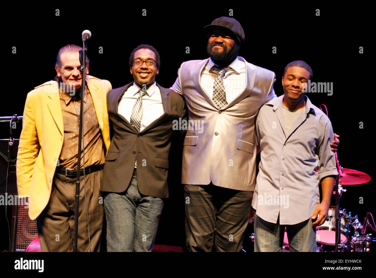 Chip Crawford, Aaron James, Gregory Porter, Emanuel Harrold  - Auftritt von 'Gregory Porter', Jazzfest 2011, - Stock Image