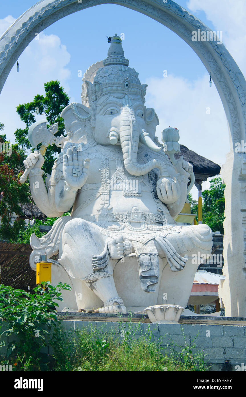 The giant statue of Ganesh, a Hindu god, on the island of Menjangan in West Bali National Park, Bali, Indonesia, - Stock Image