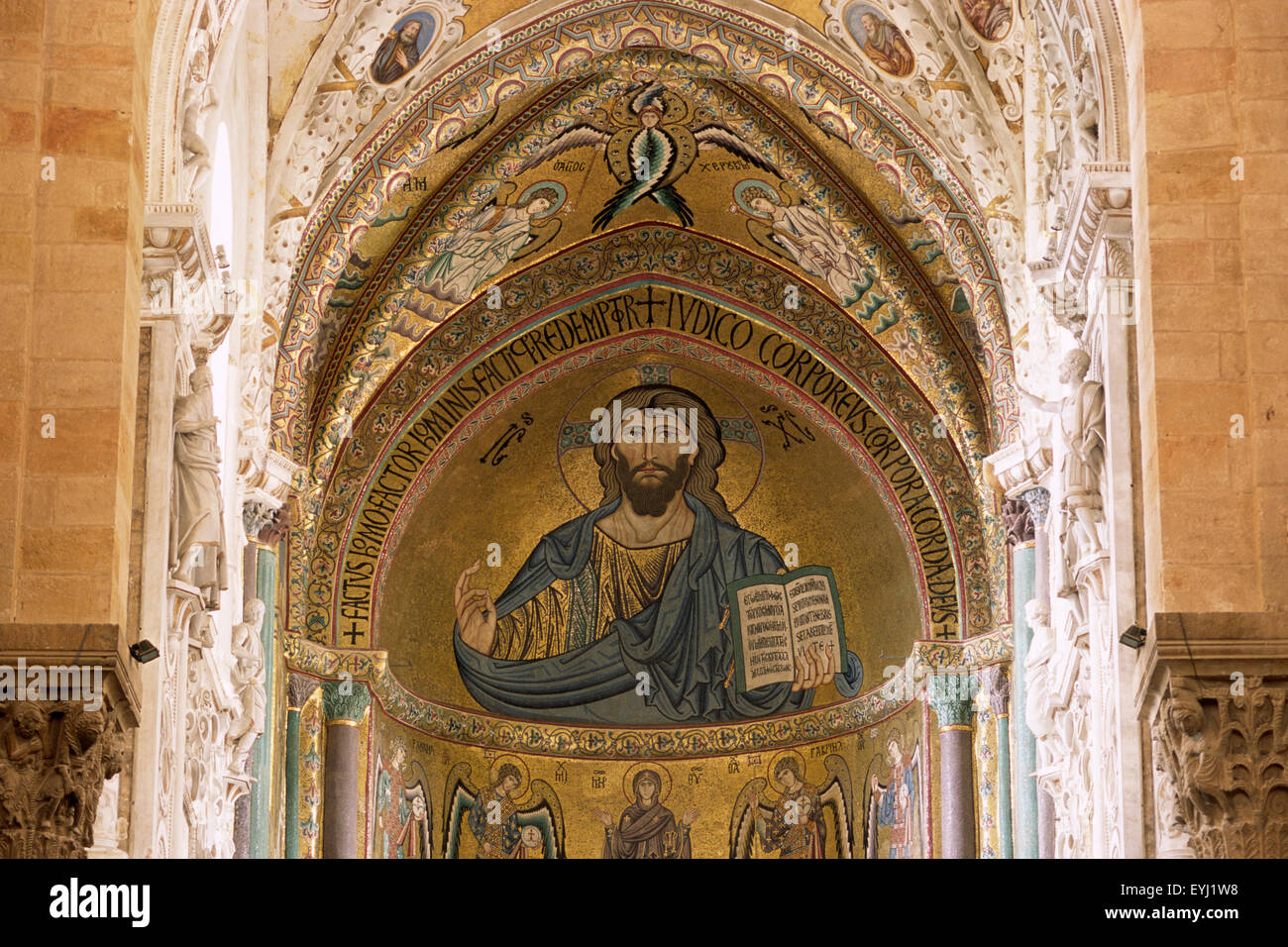 mosaic, cathedral, cefalù, sicily, italy Stock Photo