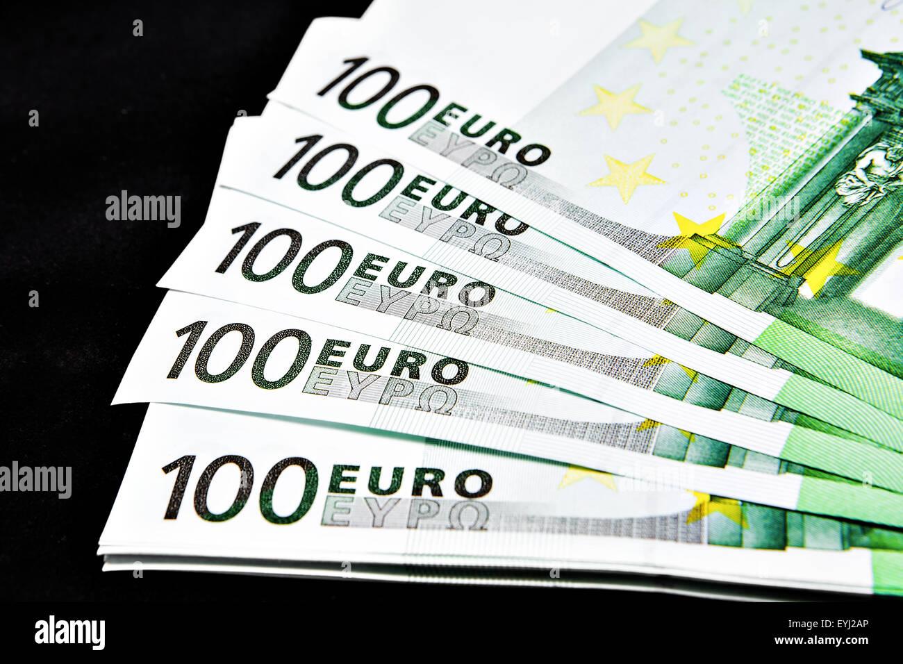 European banknotes,  Euros. Stock Photo