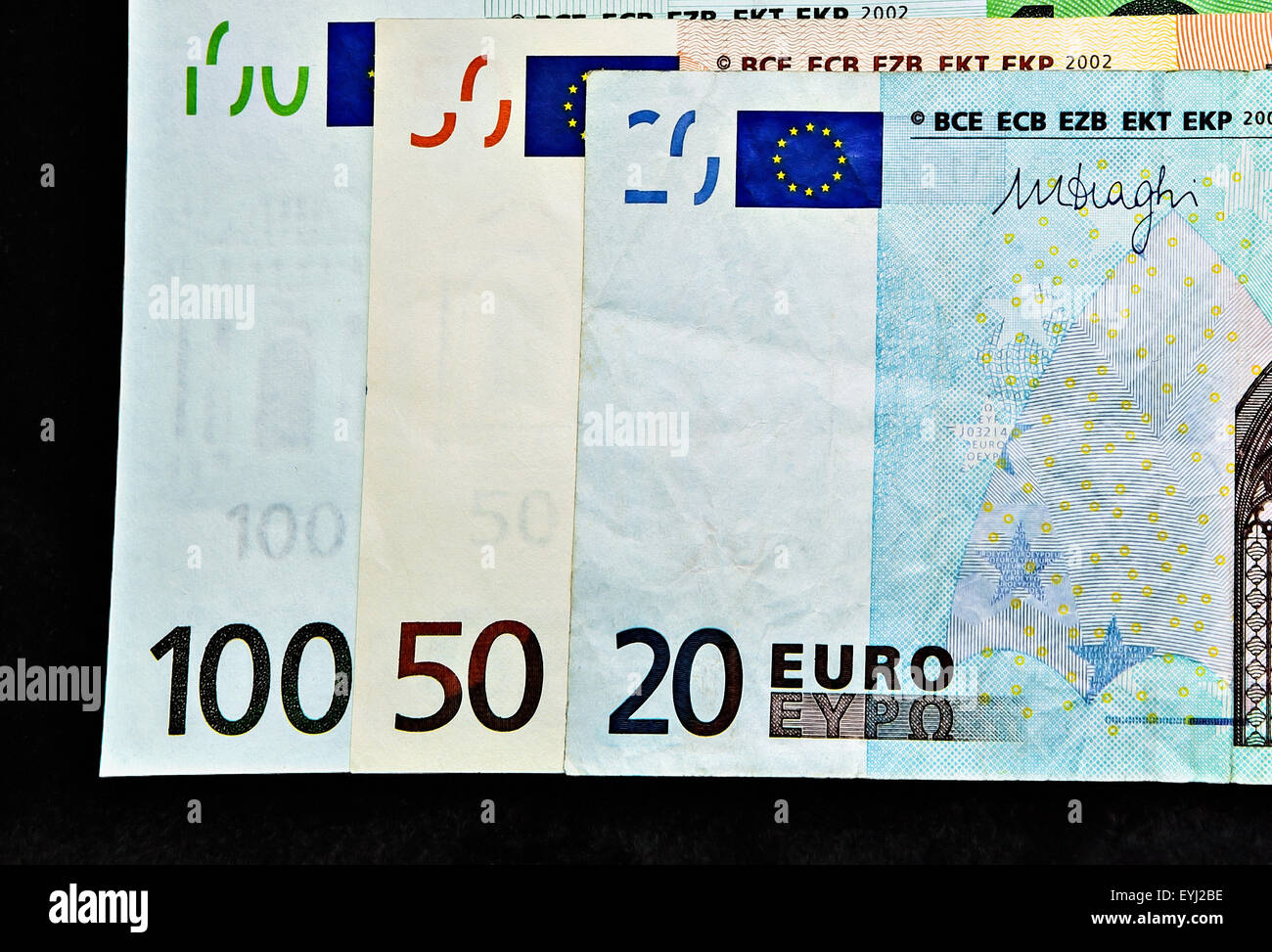European banknotes,  Euros. Stock Photo