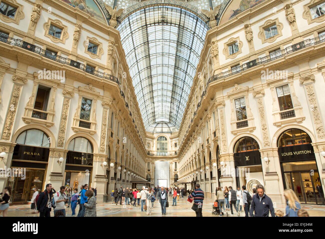 Galleria Vittorio Emanuele II, Milan, Milano Mailand Lombardy region, Italy - Stock Image