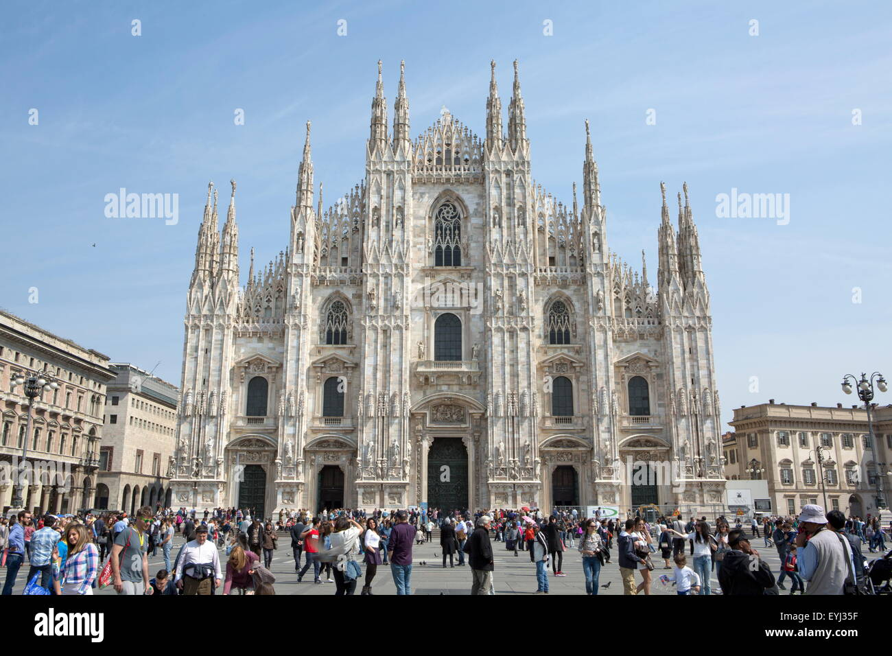 Piazza del Duomo (Milan), Milano, Lombardy region, Italy - Stock Image
