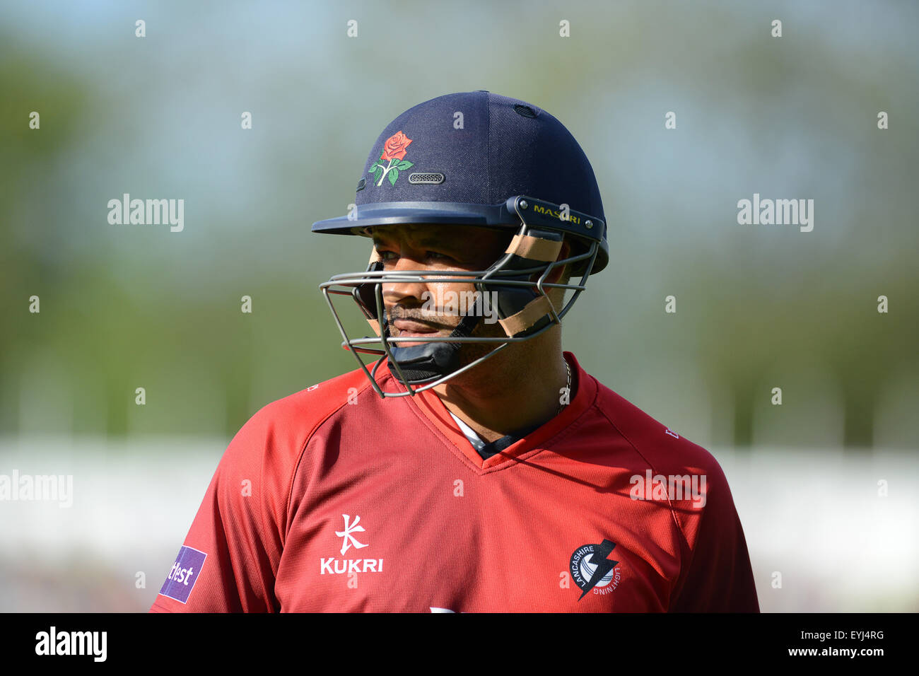 Ashwell Prince batsman cricketer for Lancashire - Stock Image