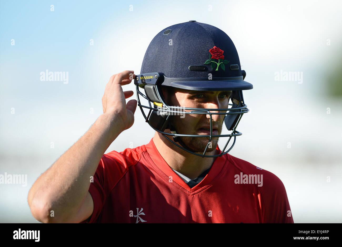 Liam Livingstone batsman cricketer for Lancashire - Stock Image