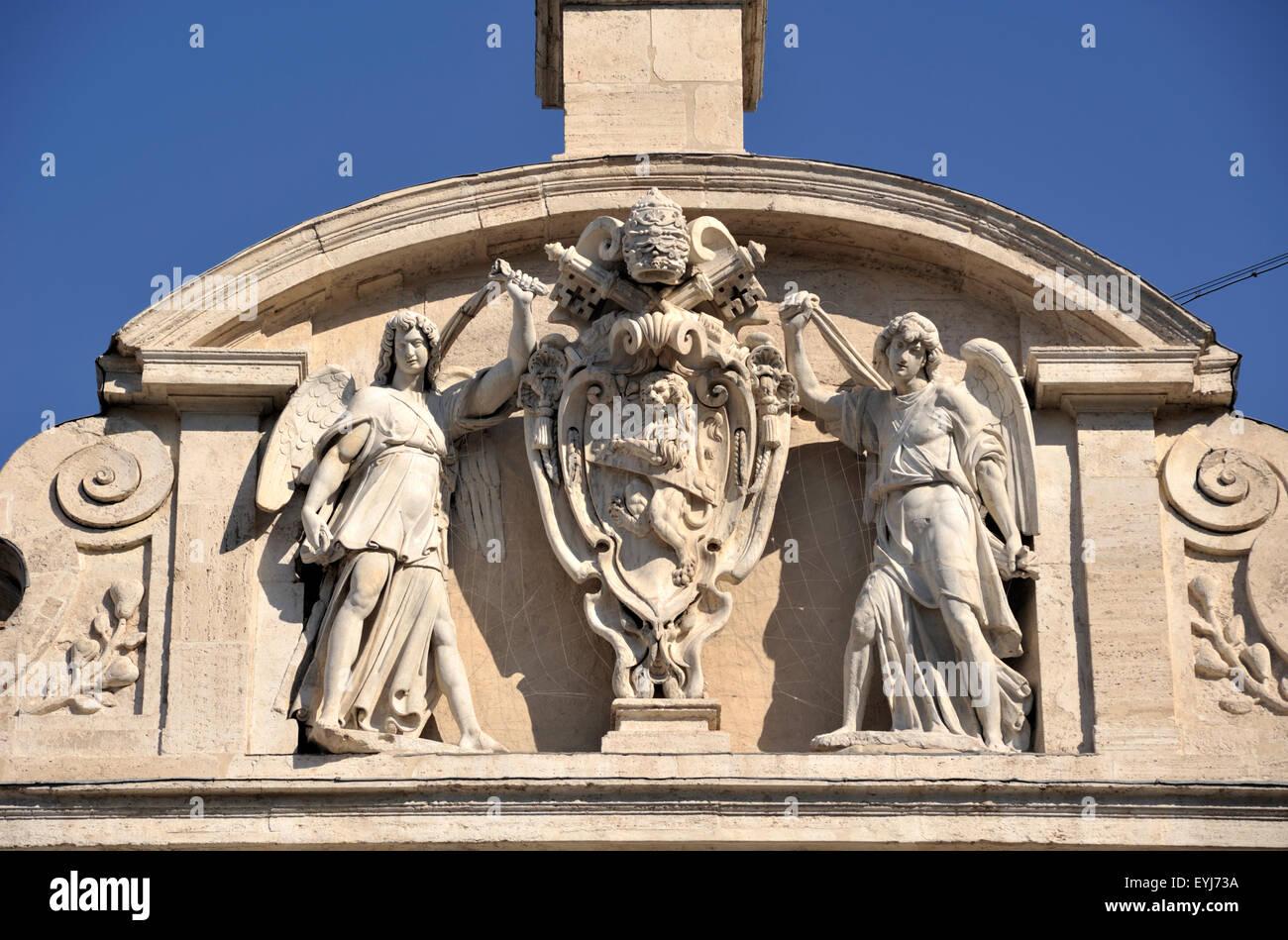 italy, rome, fontana dell'acqua felice, moses fountain (16th century) - Stock Image