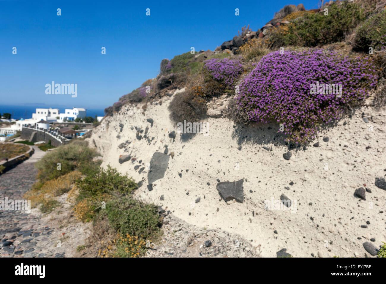 The path from Imerovigli to Oia, pumice profile, Santorini, Greek Islands, Cyclades, Greece, EU, Europa - Stock Image
