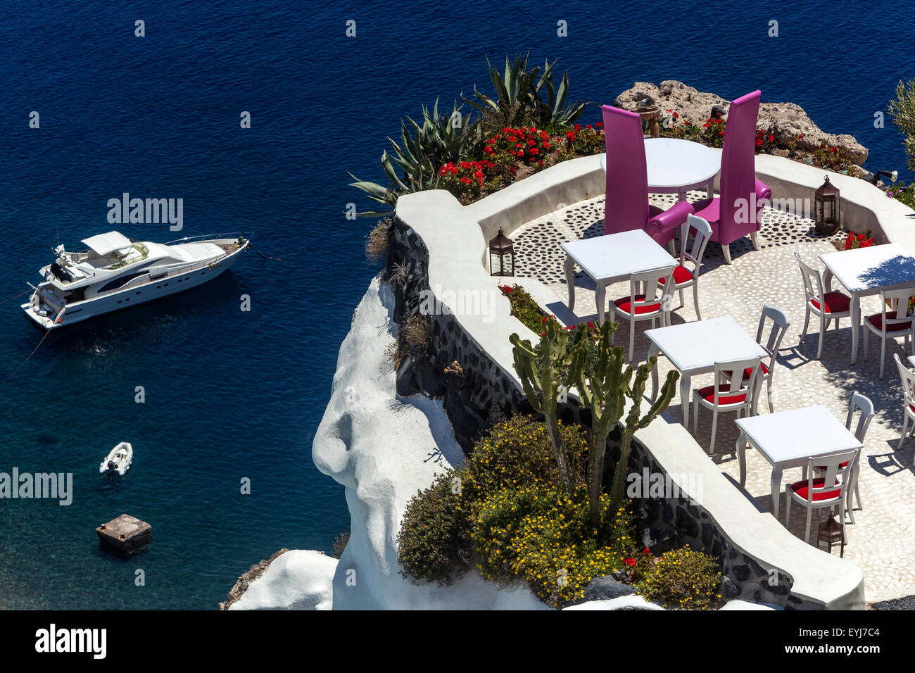 Luxury place sea view,restaurant bar cafe, Oia, Santorini, Greek ...