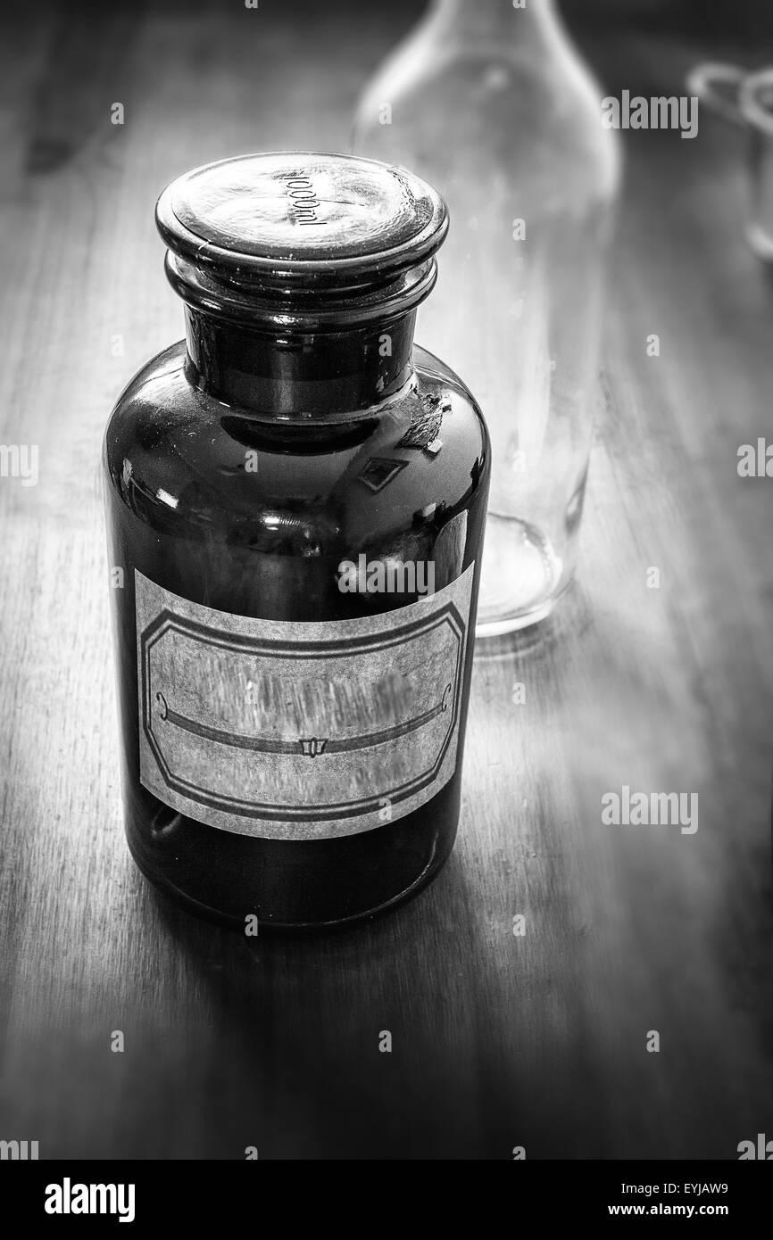 VIntage Apothecary Bottle Stock Photo