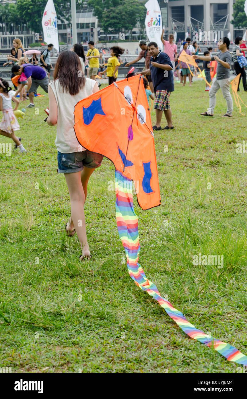 Singapore Kite Festival, 2014 - Stock Image