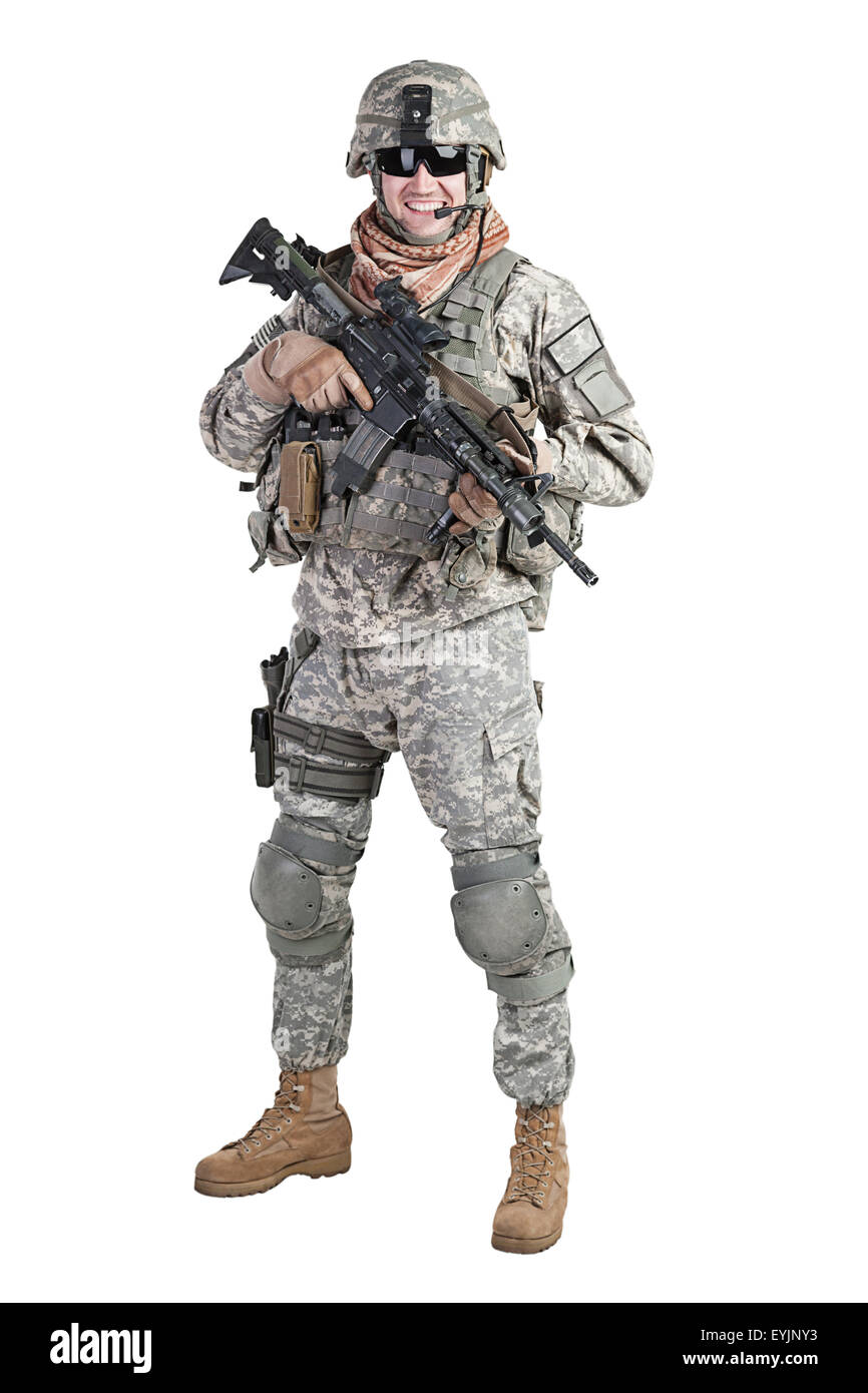 paratrooper airborne infantry - Stock Image