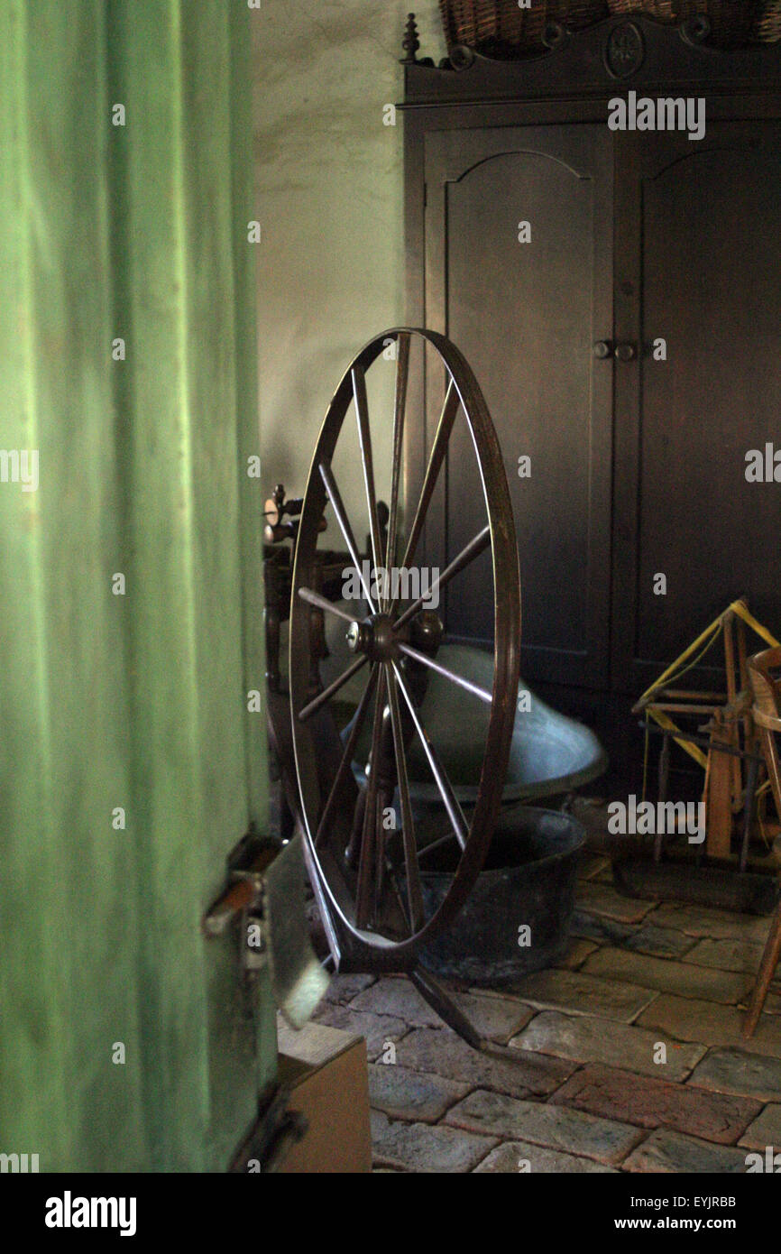 spinning wheel brian mcguire Stock Photo