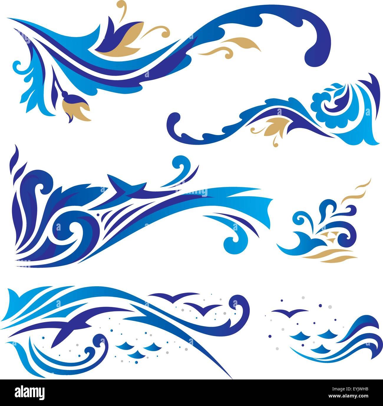Set of elegant islamic vignettes and borders for design cards stock set of elegant islamic vignettes and borders for design cards invitations stopboris Choice Image