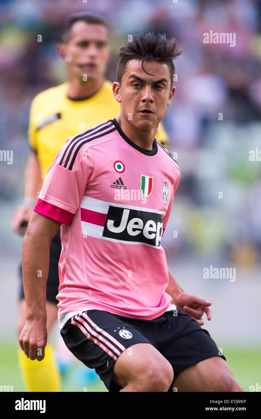 new arrival 675e0 9d9ef Gdansk, Poland. 29th July, 2015. Paulo Dybala (Juventus ...