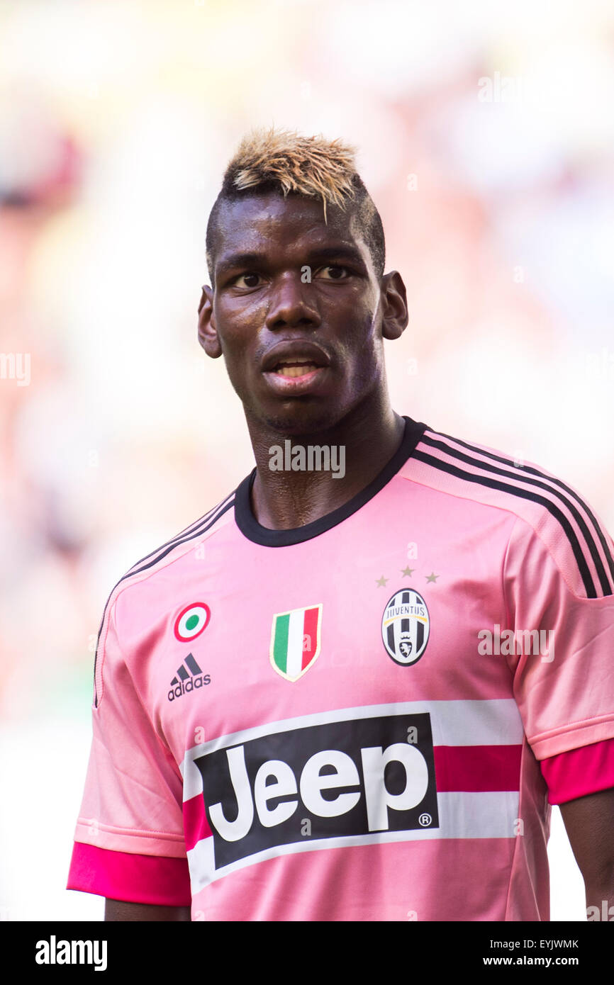 hot sale online 77b8c 36afe Gdansk, Poland. 29th July, 2015. Paul Pogba (Juventus Stock ...