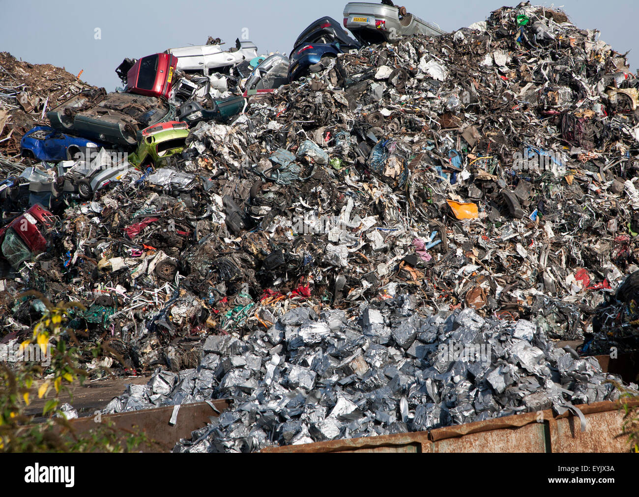 Scrap metal recycling processed metals, EMR company, Swindon, England, UK Stock Photo
