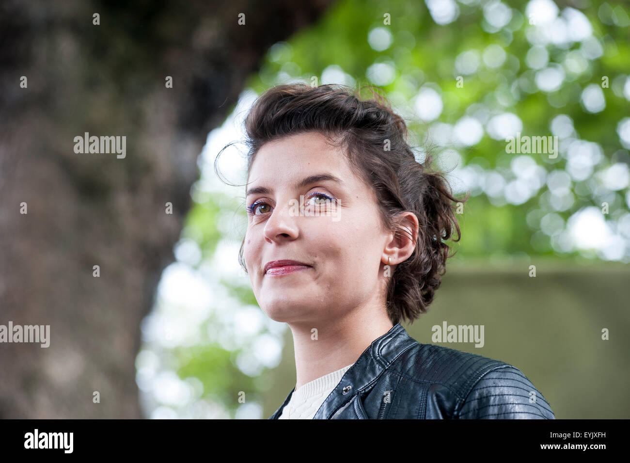 English actress and author, Jessie Burton, appearing at the Edinburgh International Book Festival - Stock Image