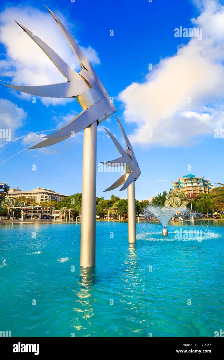 Cairns Esplanade Lagoon, Queensland. - Stock Image