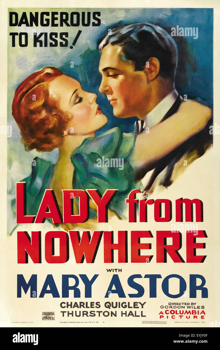 Lady From Nowhere - Mary Astor - Movie Poster - Stock Image