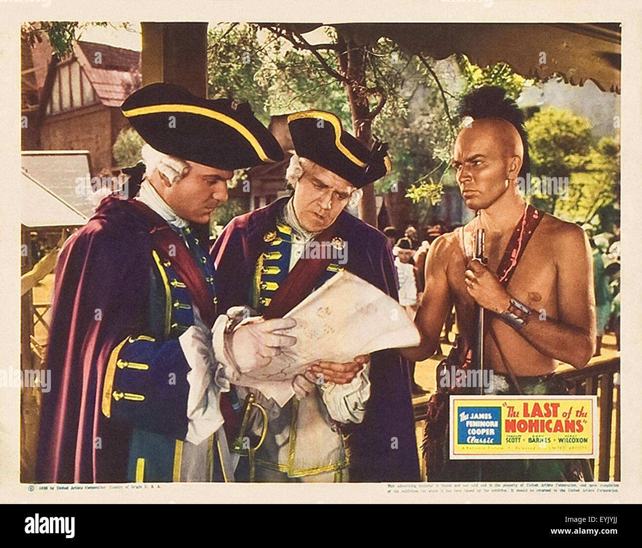 the last of the mohicans 1936 movie poster stock photo
