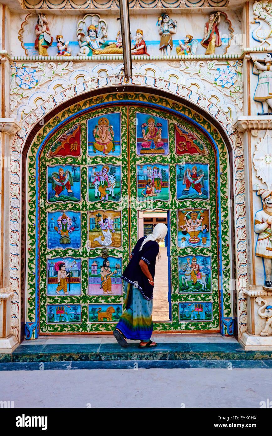 India, Gujarat, Kutch, Bhuj, Swaminarayan temple - Stock Image