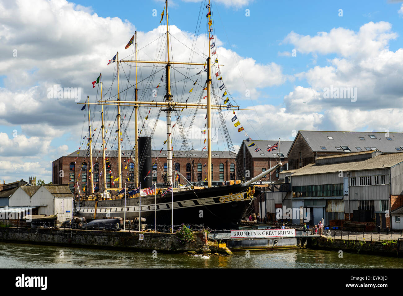 SS Great Britain in its dock at Bristol Harbour - Stock Image
