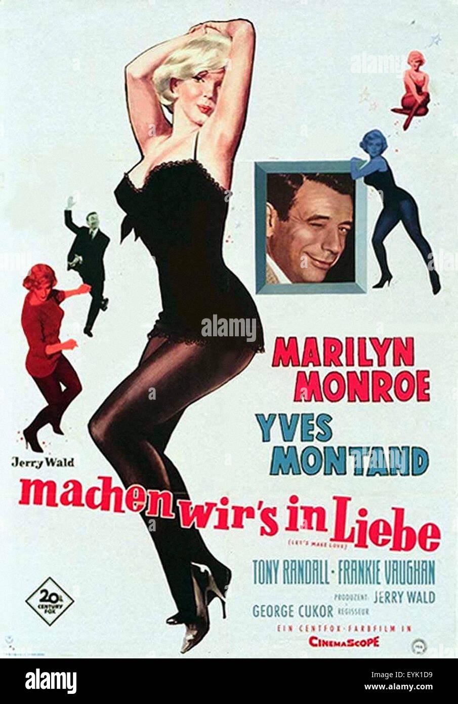 Lets Make Love Lobby Card Movie Poster Marilyn Monroe Yves Montand Tony Randall