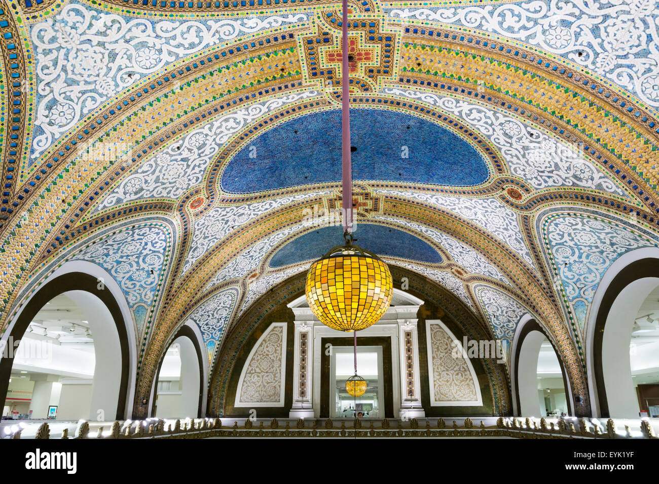 The Tiffany Co Favrile Glass Mosaic Ceiling Above A 5 Storey