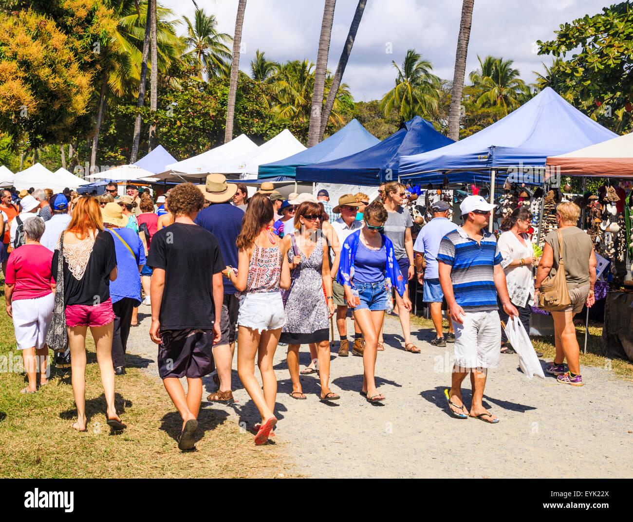 Port Douglas Sunday Markets. Port Douglas, Queensland - Stock Image