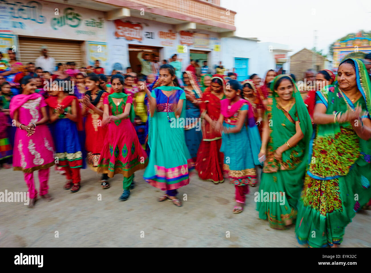 India, Gujarat, Kutch, Dhori village, wedding ceremony - Stock Image